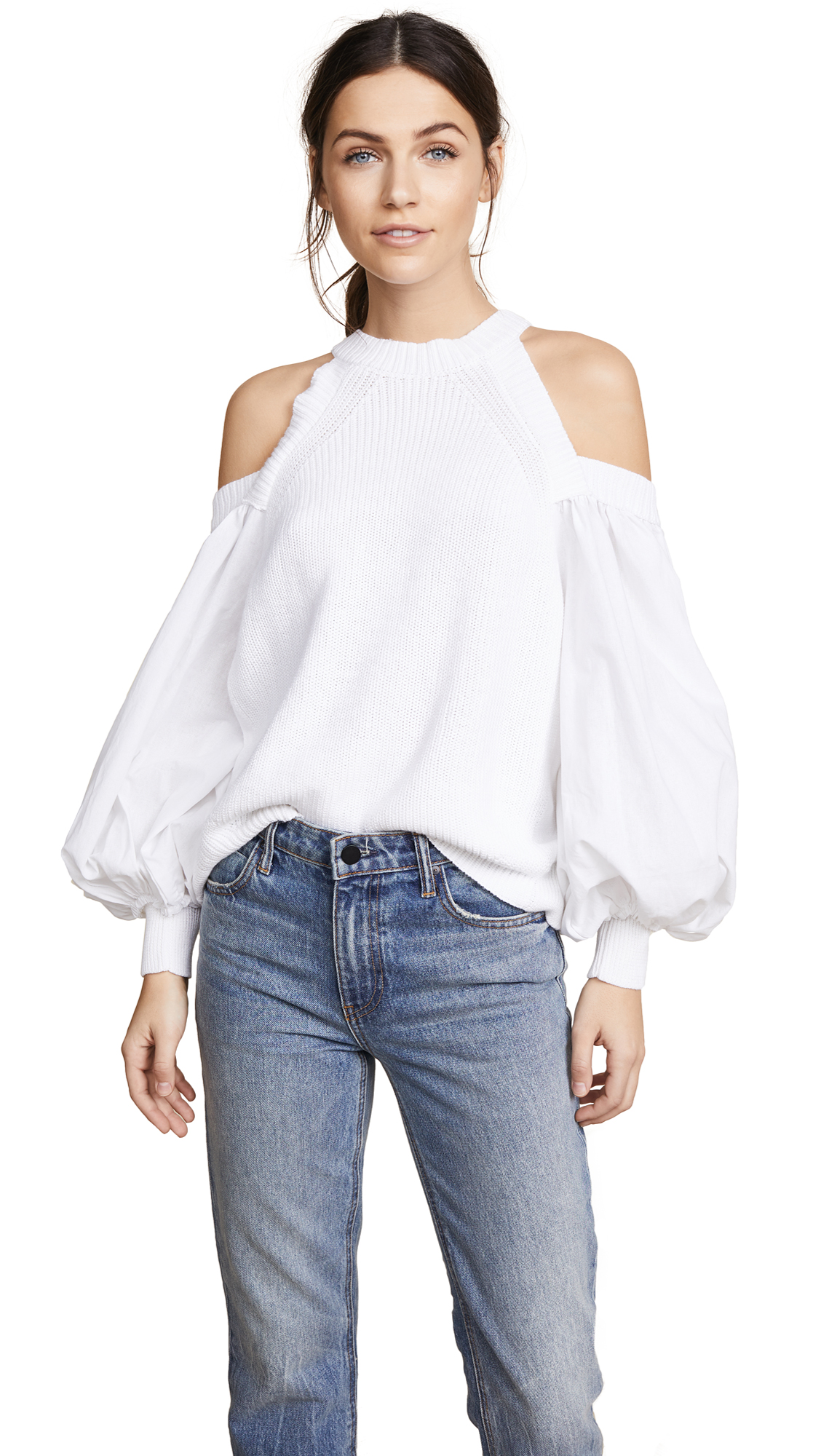 Catch-A-Glimpse Cold-Shoulder Sweater