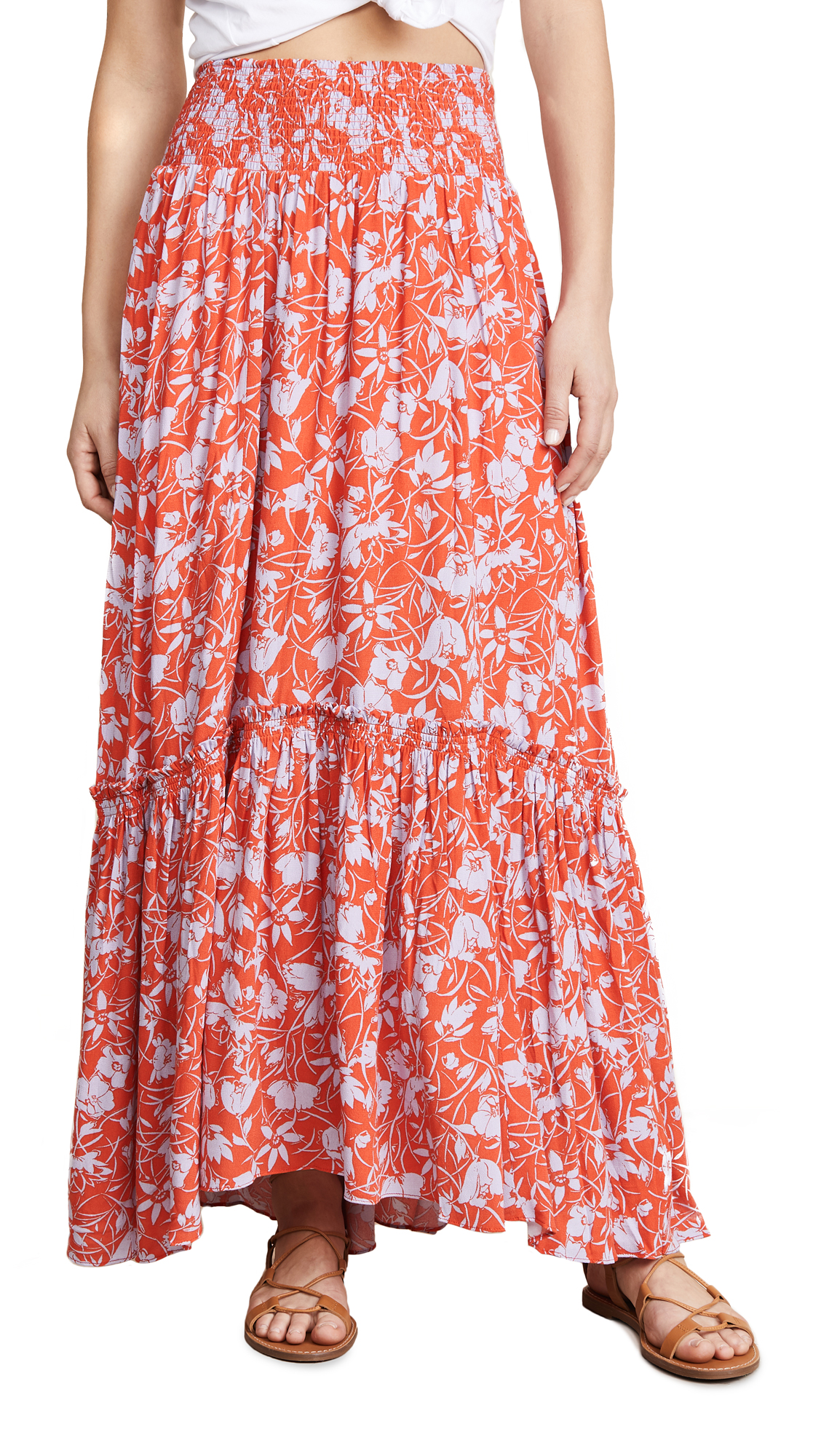 bce77eb55 Free People Way of the Wind Printed Midi Skirt | SHOPBOP