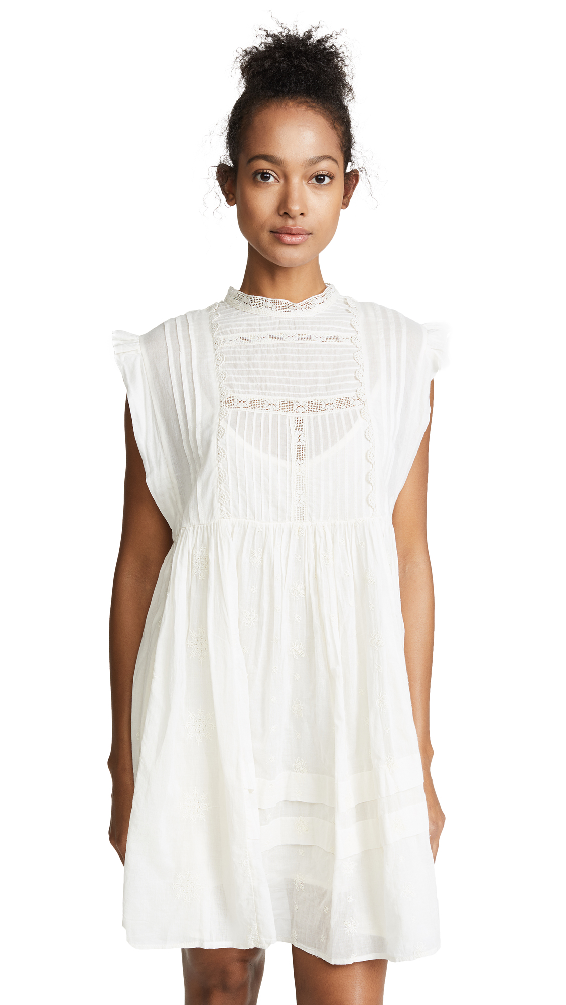 Free People Nobody Like You Embellished Mini Dress In Ivory