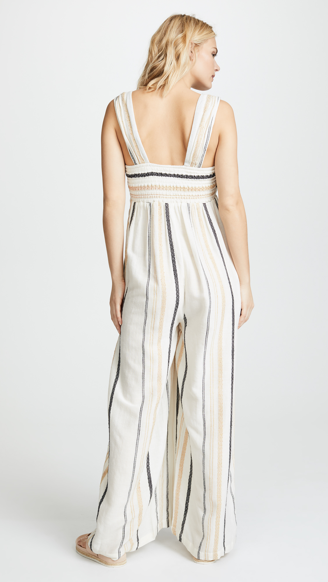 dfe3159d51c3 Free People Breezin Through Striped Jumpsuit