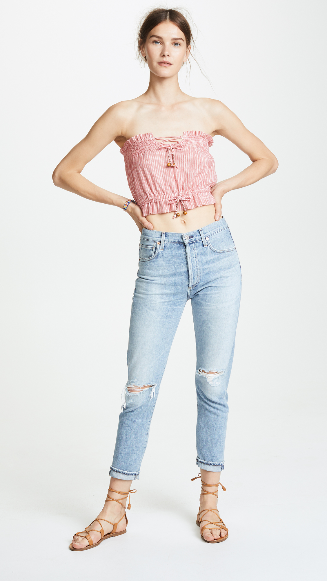 f69646c005 Free People Peppermint Tube Top