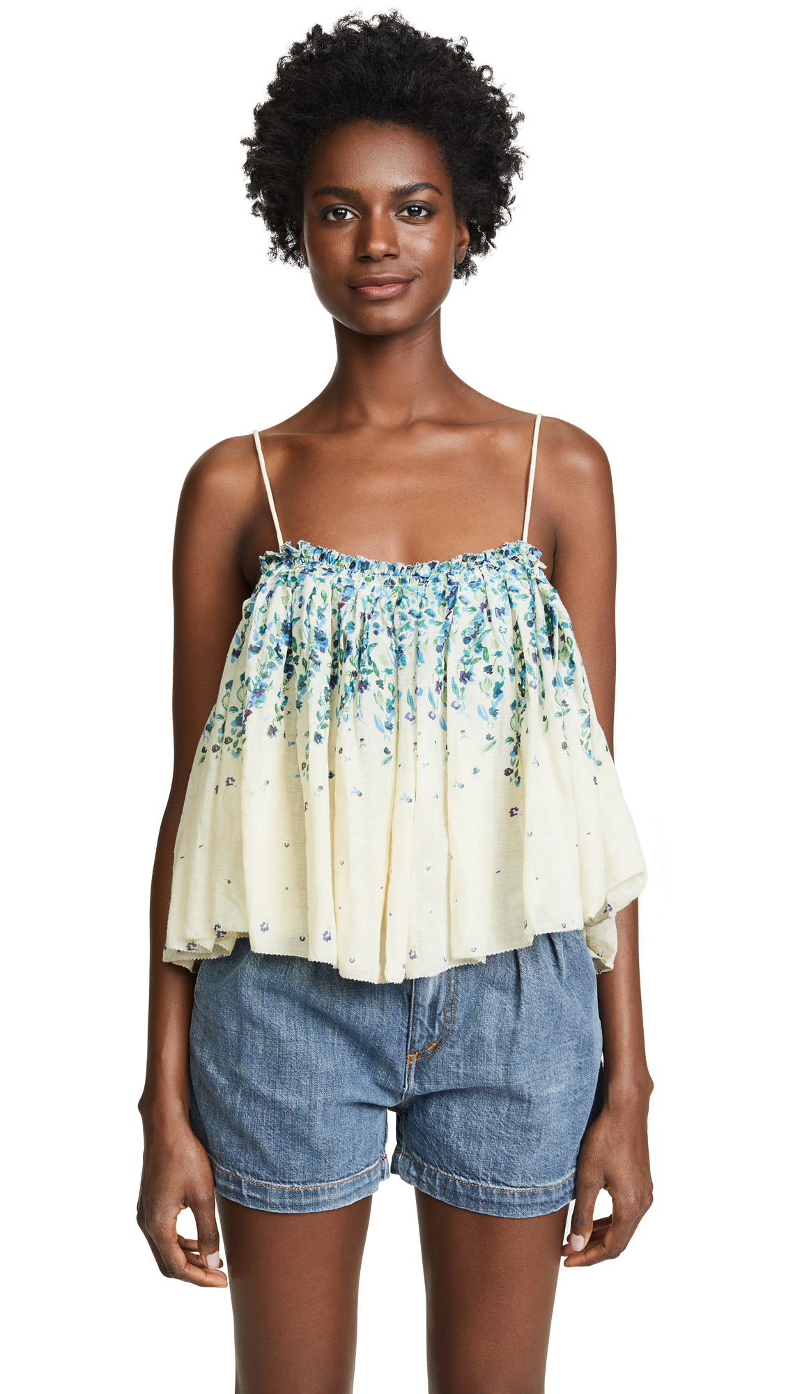 Free People Instant Crush Printed Top In Ivory
