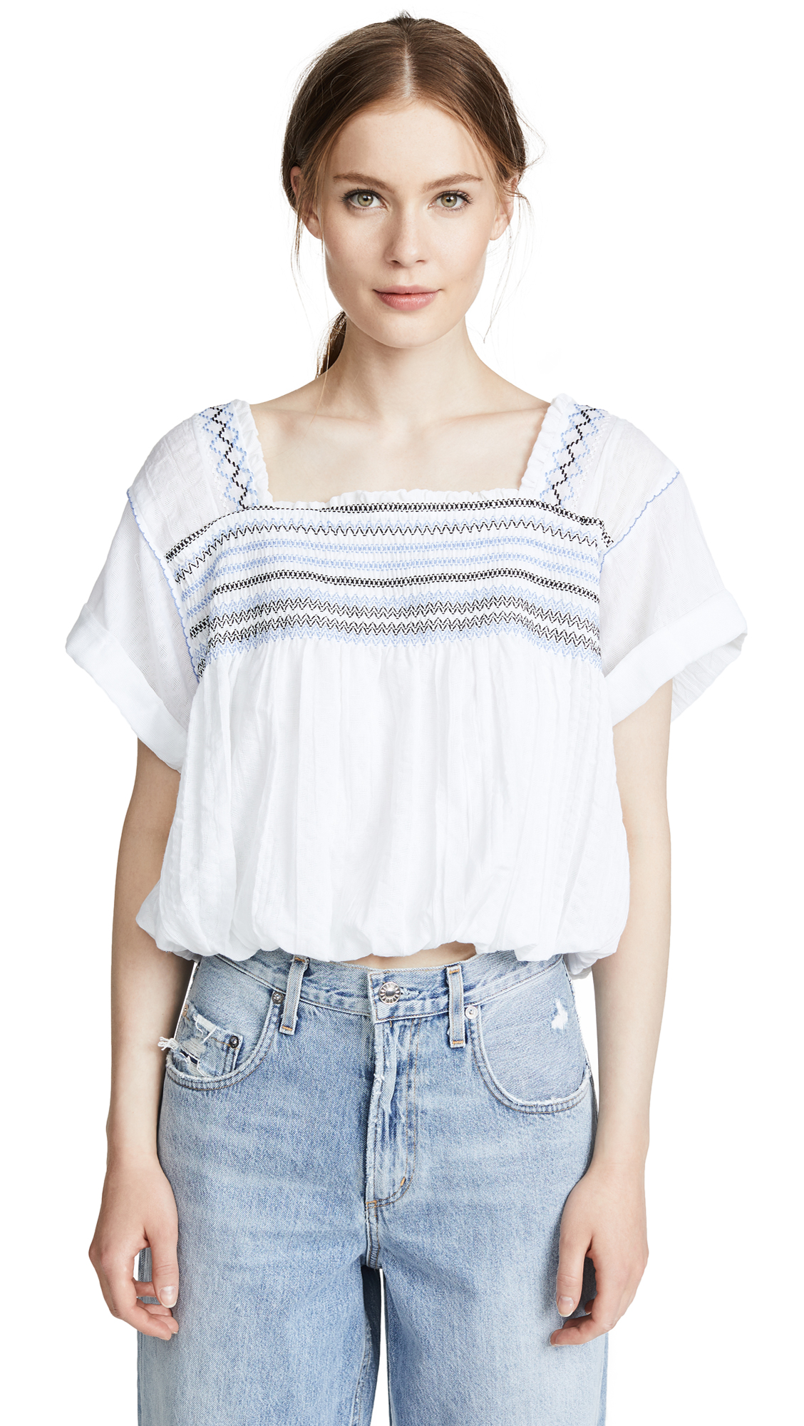 Free People Wandering Skies Blouse
