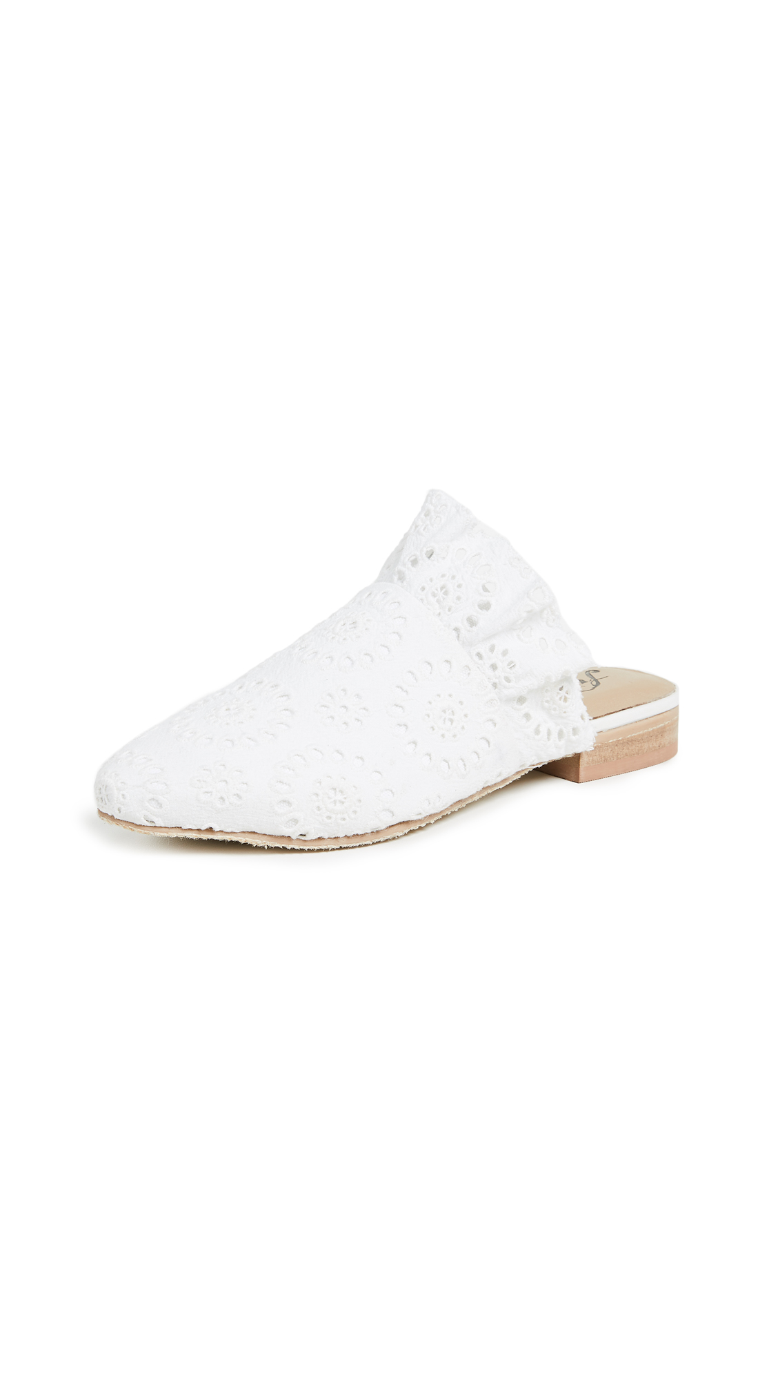 Free People Eyelet Sienna Slip Ons In White