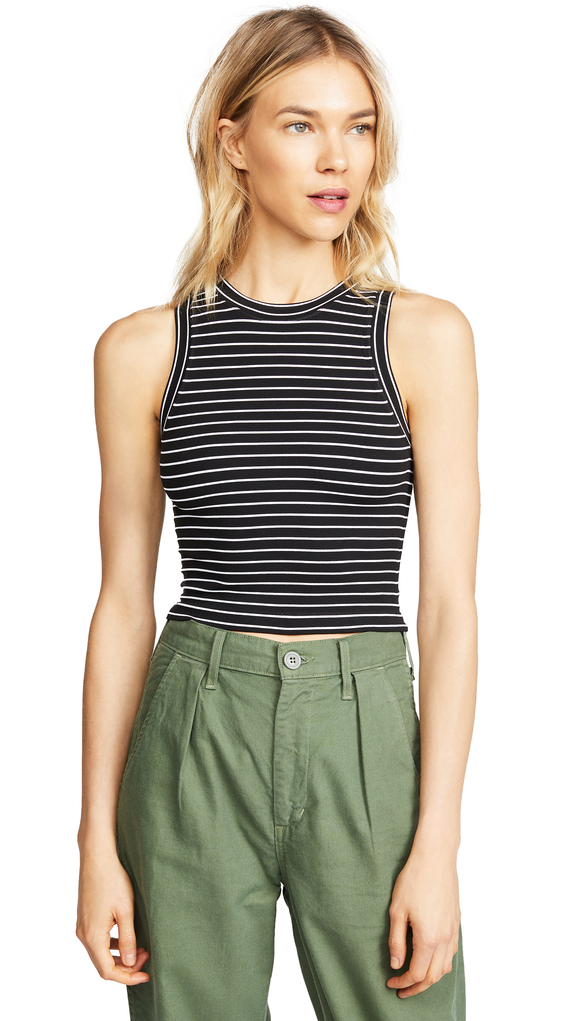 Free People Seamless Stripe Brami In Black