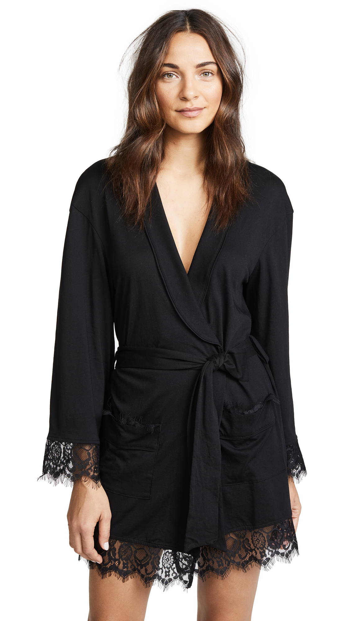 Free People Sweetest Thing Robe In Black
