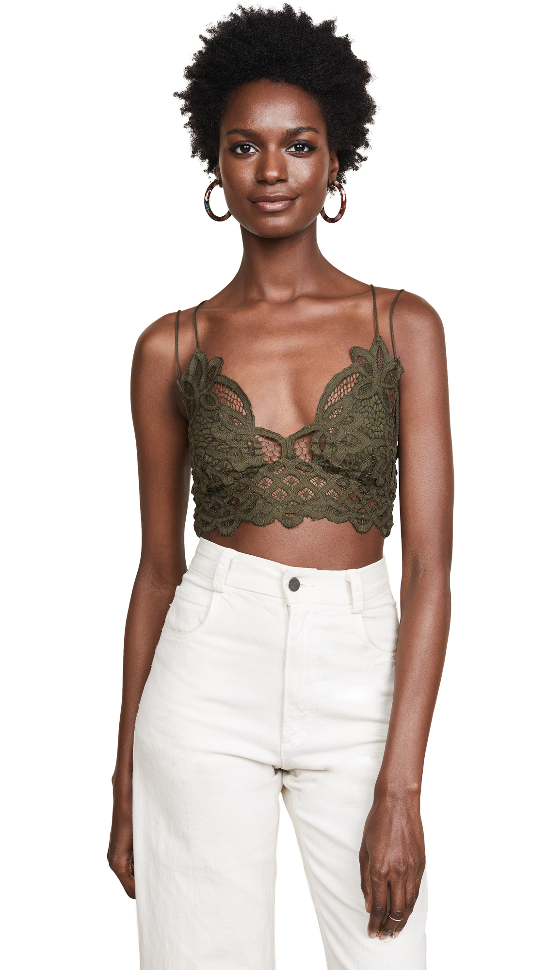 db82124af1 Free People Adella Bralette In Olive