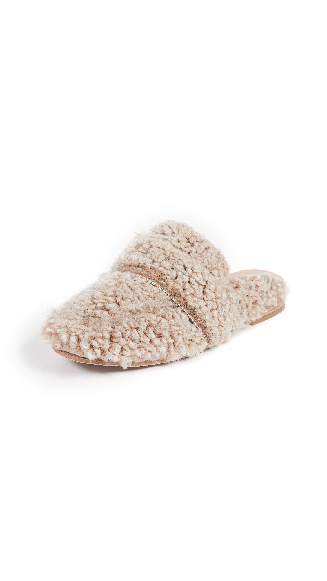 Free People Faux Shearling At Ease Mules
