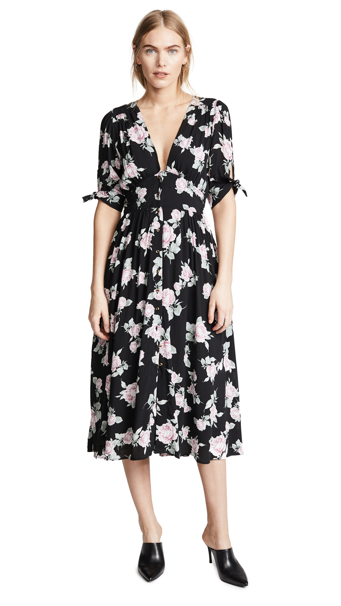 Free People Love of My Life Dress In Black Combo