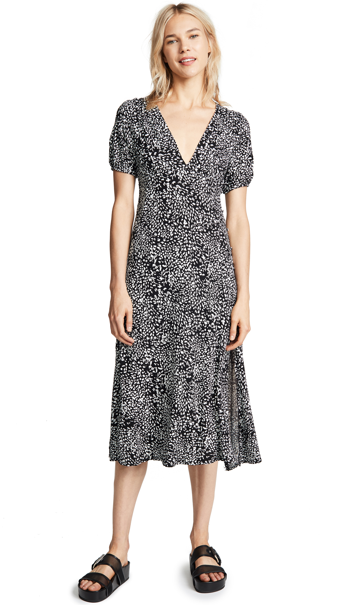 Free People Looking For Love Midi Dress In Black