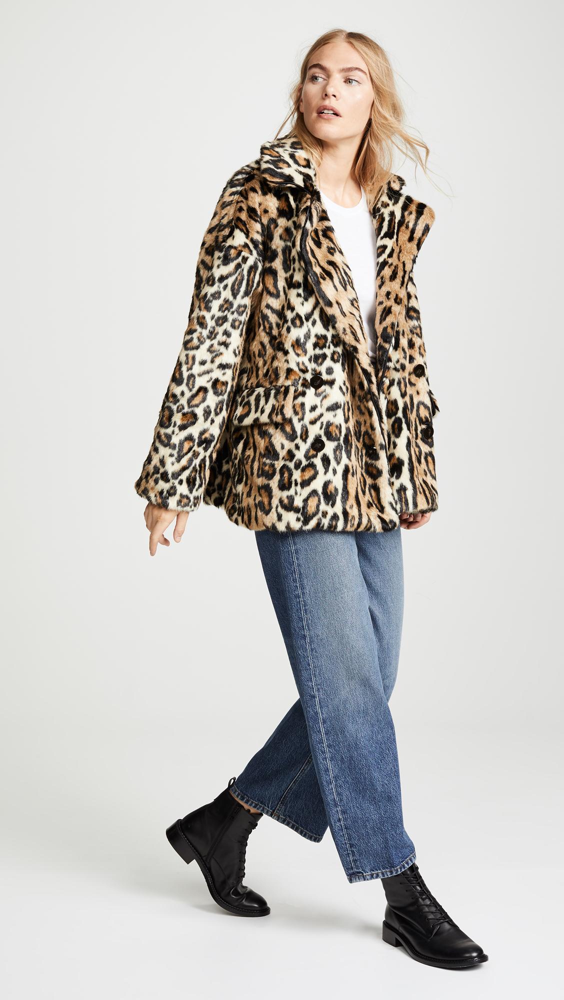 51dba6f500e5 Free People Kate Leopard Coat