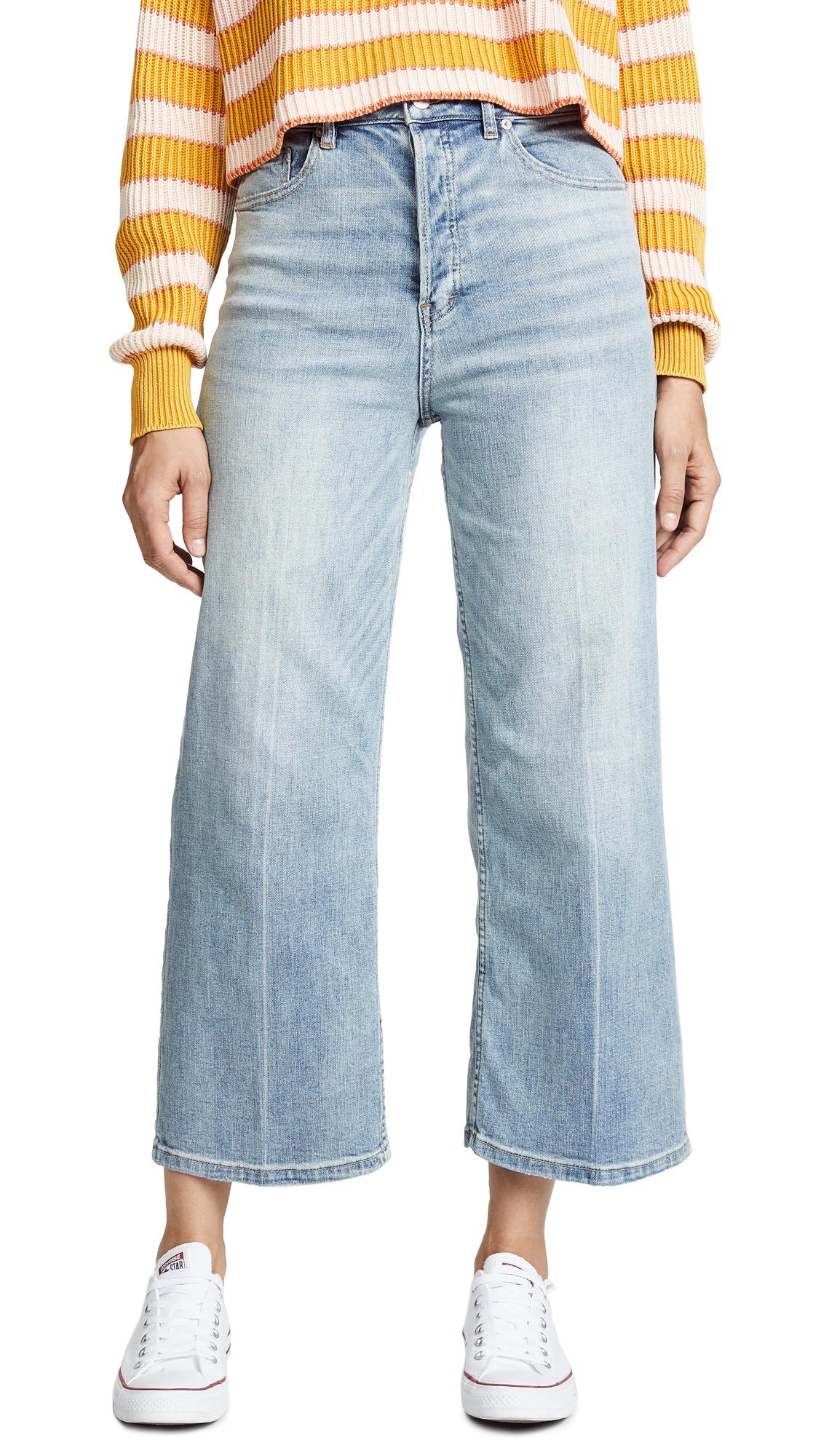 Free People Wales Wide Leg Jeans In Blue