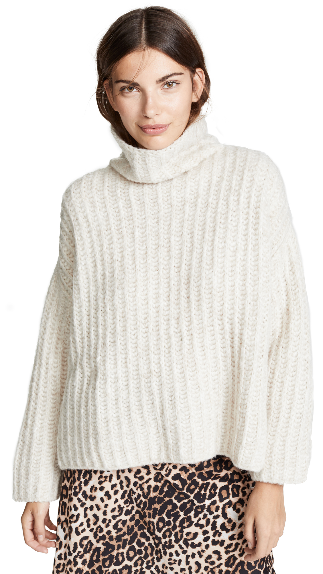 Free People Fluffy Fox Sweater - Pearl