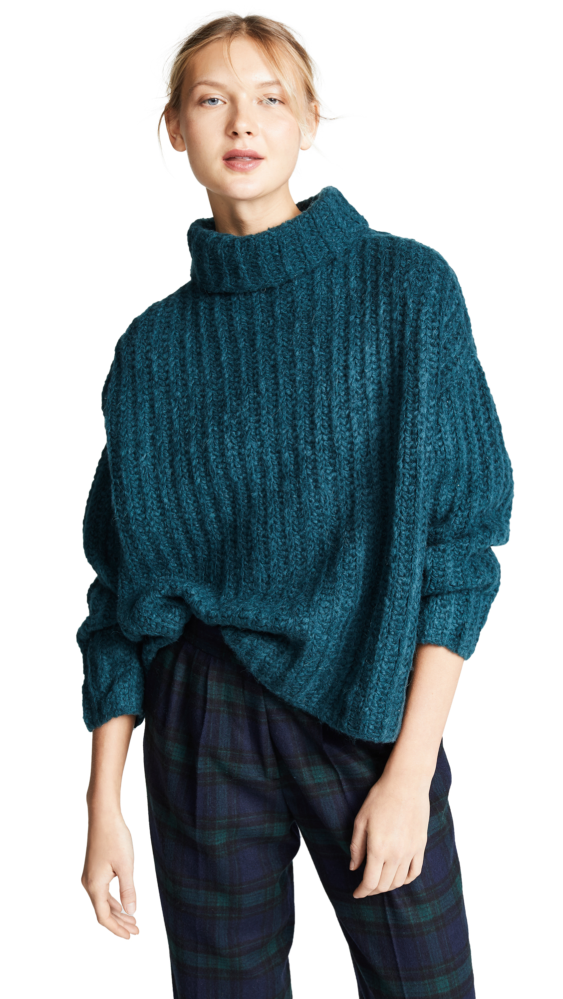 Free People Fluffy Fox Sweater - Turquoise
