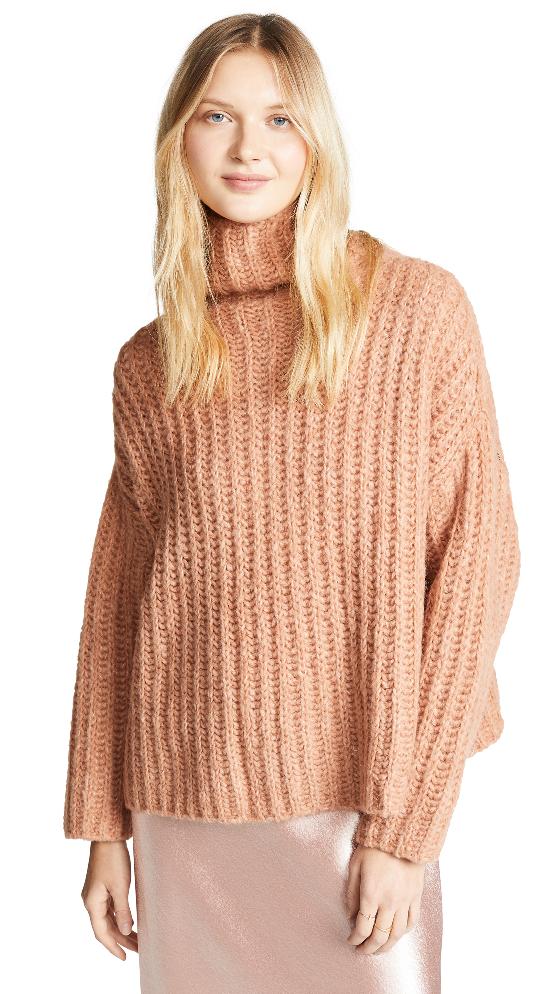 Free People Fluffy Fox Sweater - Papaya