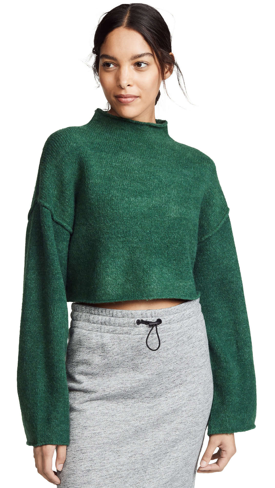 Free People Lost In A Forest Sweater - Evergreen