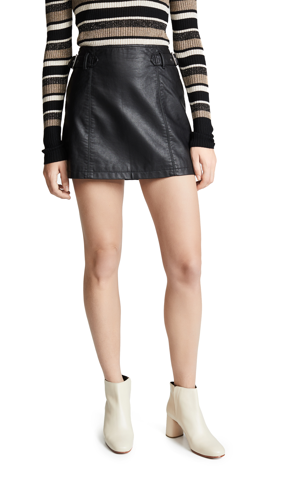 Free People Charli A-Line Skirt - Black