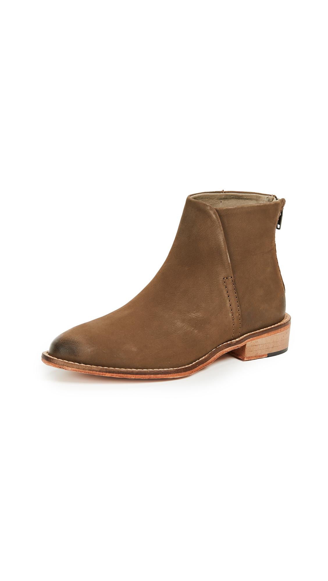 Free People Century Flat Boots - Khaki