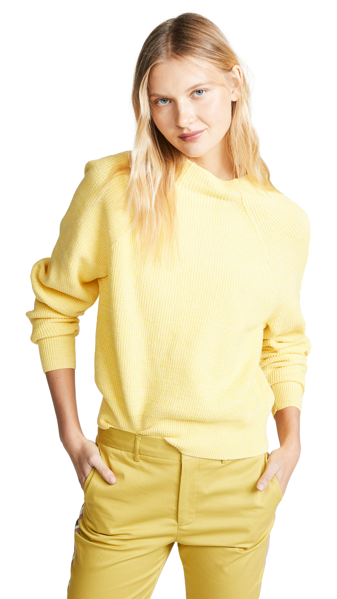 Free People Too Good Pullover - Lemon