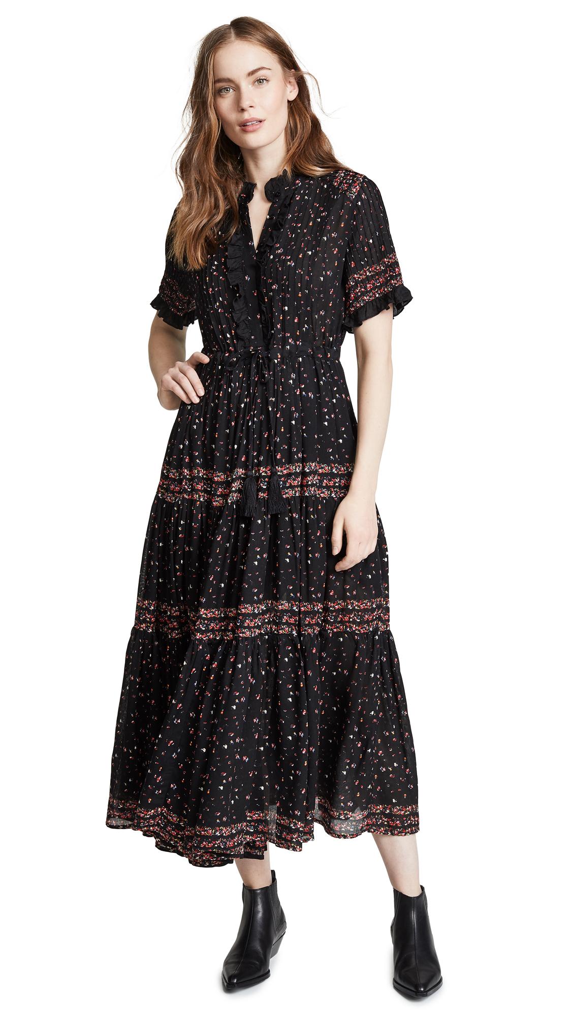 Free People Rare Feeling Maxi Dress - Black