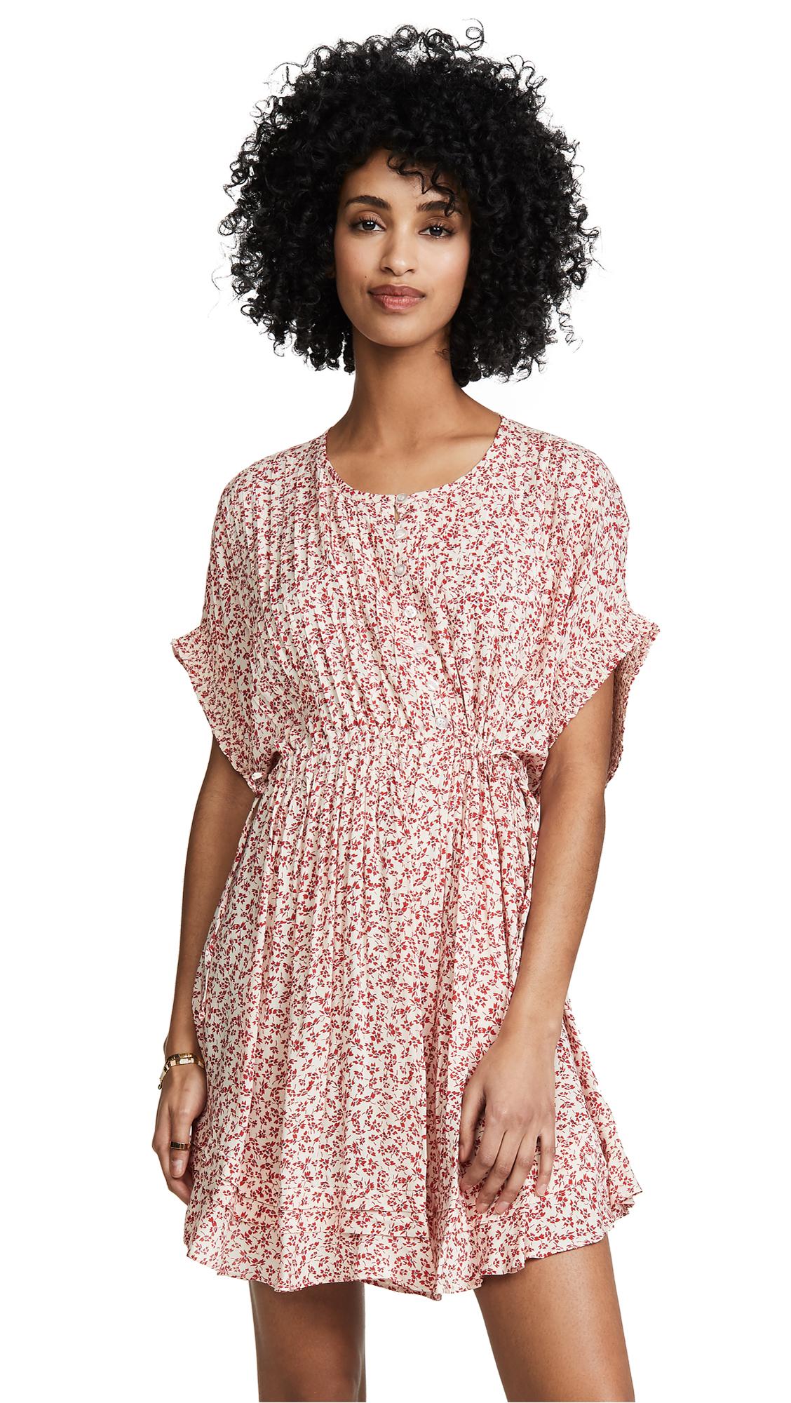 Free People One Fine Day Mini Dress - Tea Combo