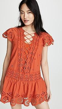 82a155448 Free People. Esperanza Eyelet Mini Dress