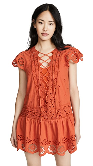 Free People Esperanza Eyelet Mini Dress