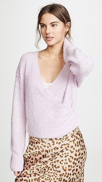 Free People Sweaters SENSUAL WRAP SWEATER