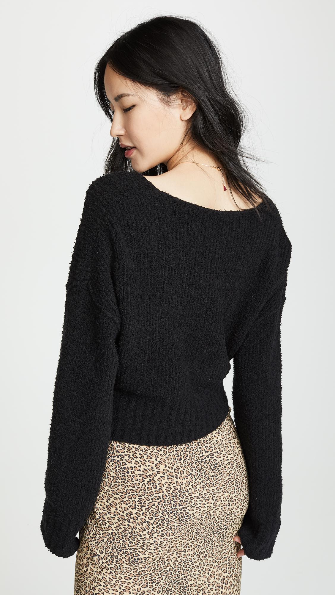 Free People Sensual Wrap Sweater | SHOPBOP