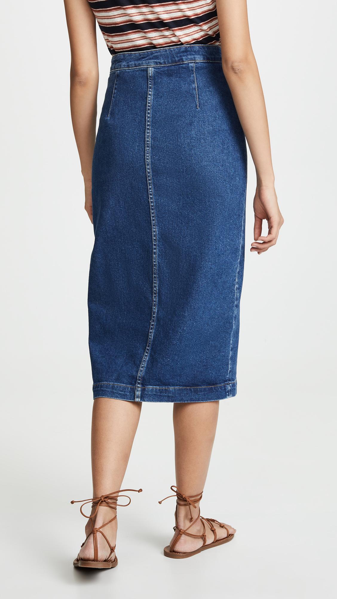 aed387f38 Free People Jasmine Buttoned Midi Skirt   SHOPBOP