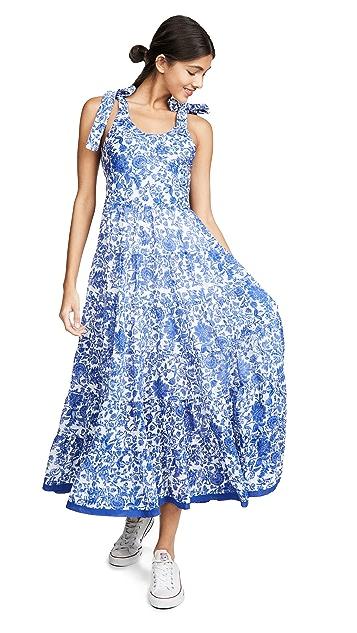 Free People Kika's Printed Midi Dress