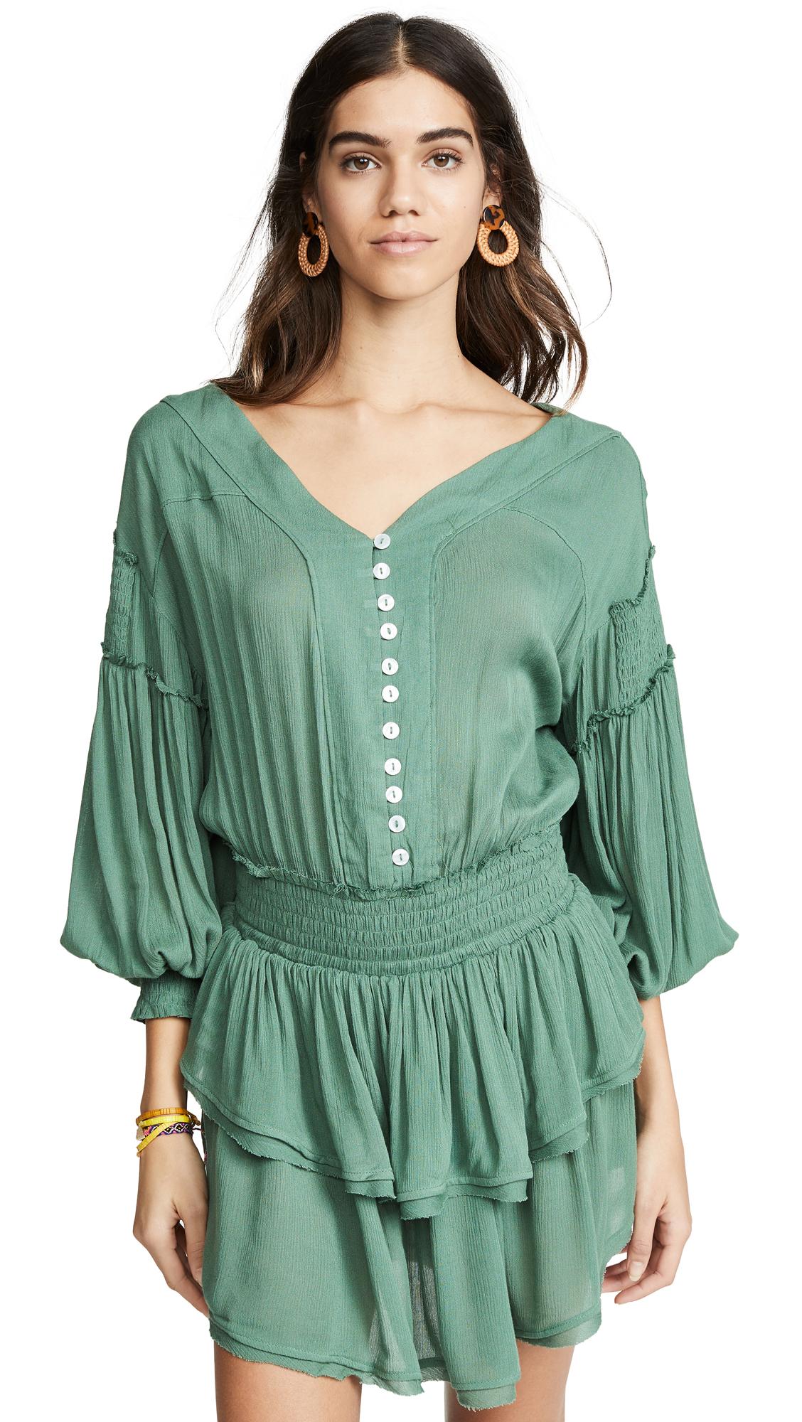 Free People The Romy Mini Dress - Green
