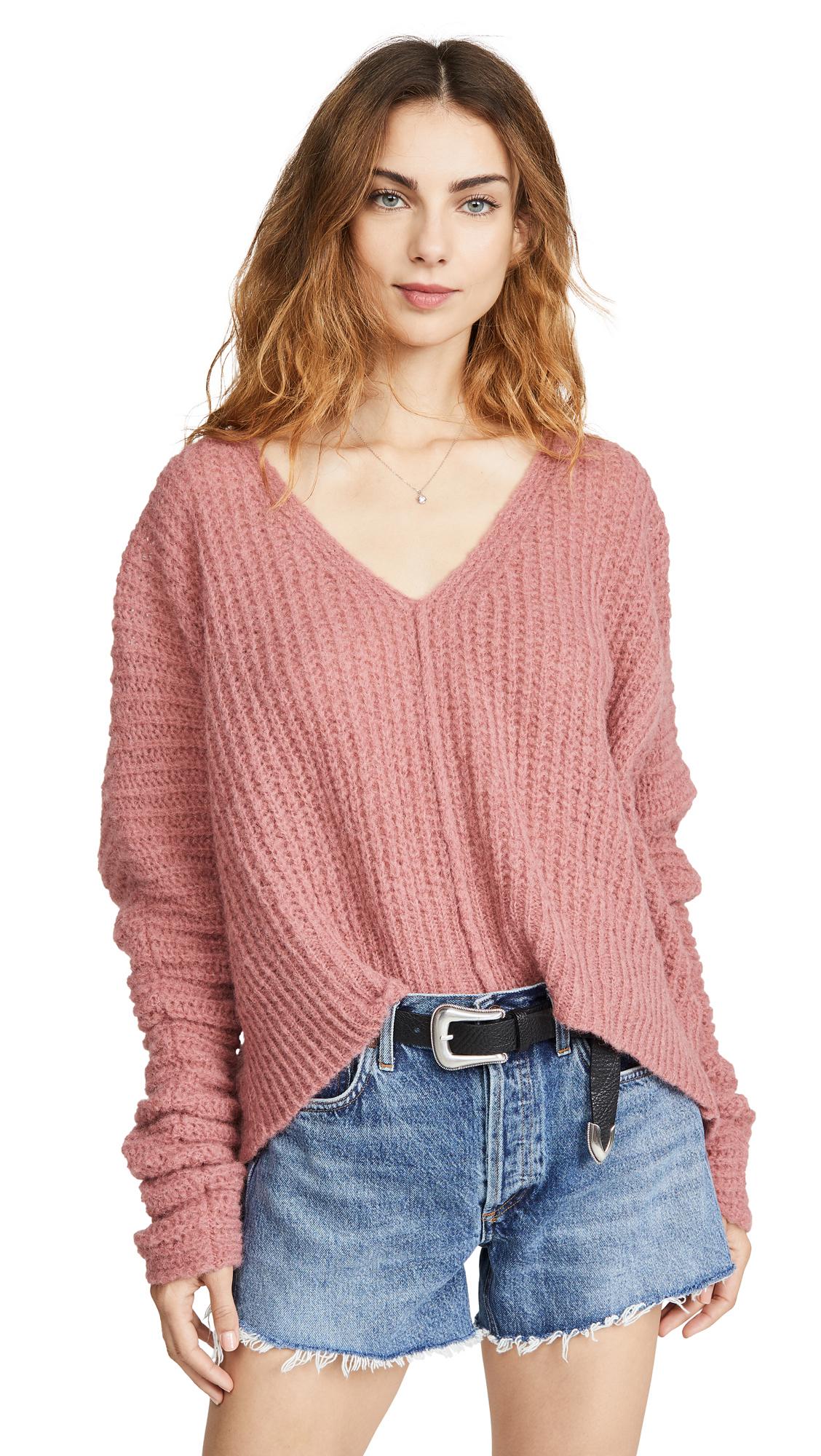 Free People Moonbeam Alpaca Sweater - Prairie Rose