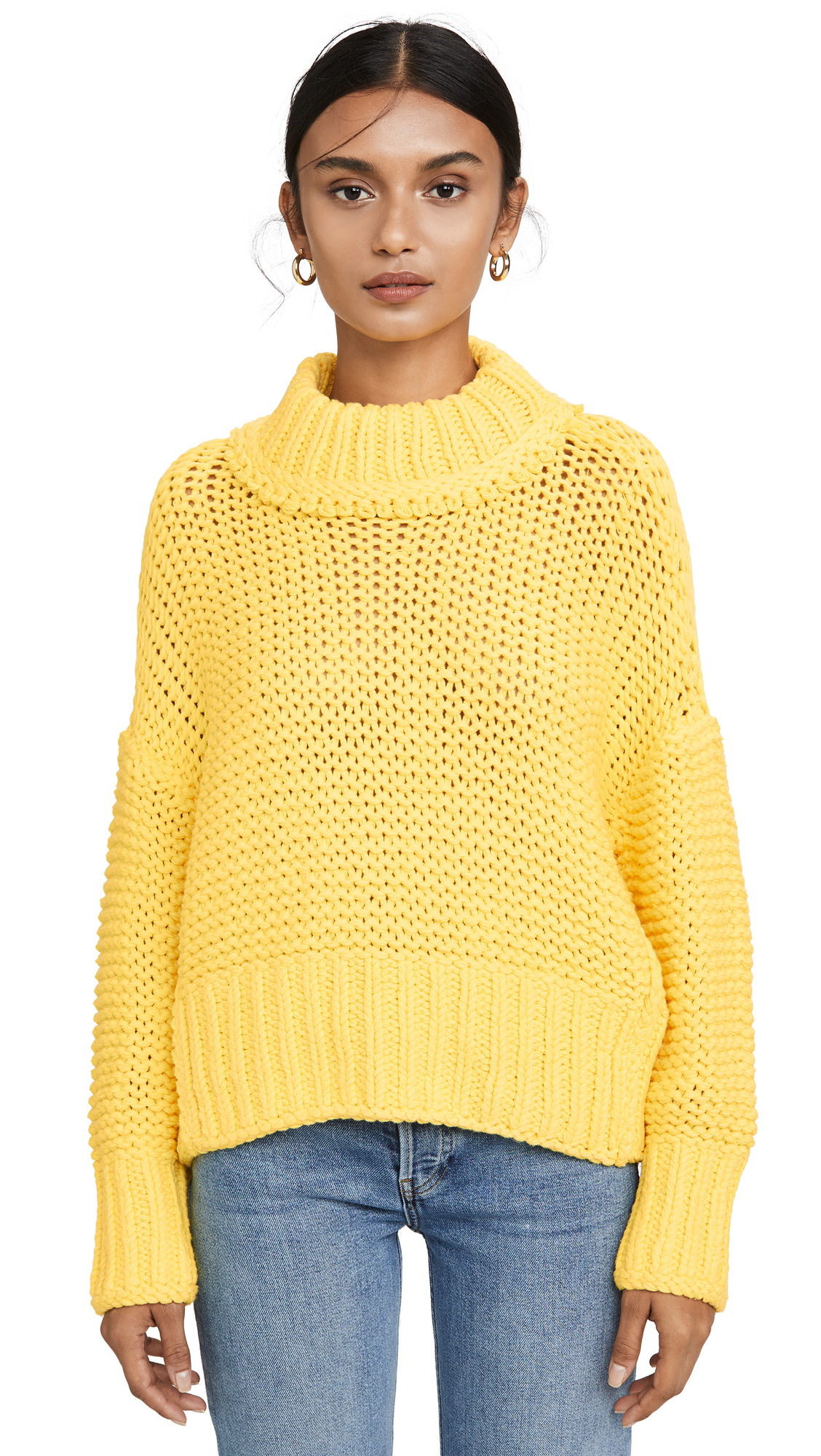 Free People My Only Sunshine Sweater In Yellow In Love