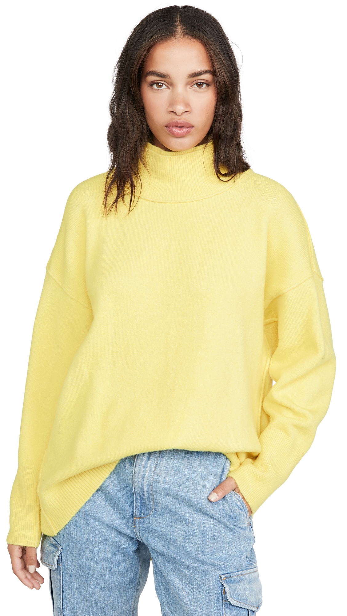 Buy Free People online - photo of Free People Afterglow Mock Neck Sweater