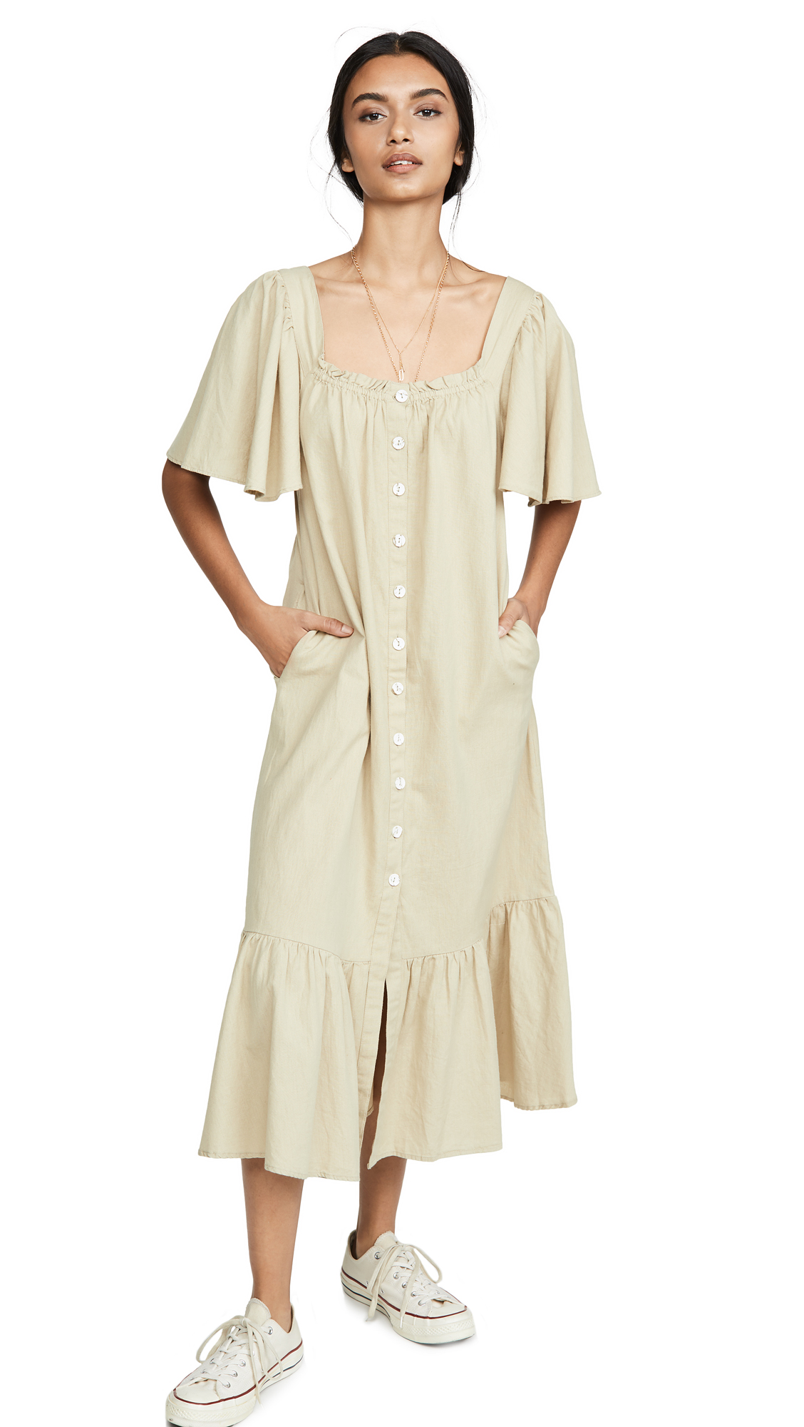 Buy Free People online - photo of Free People Sweet Sunday Midi Dress