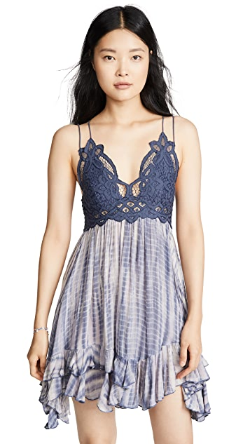 Free People Adella Tie Dye Slip Dress