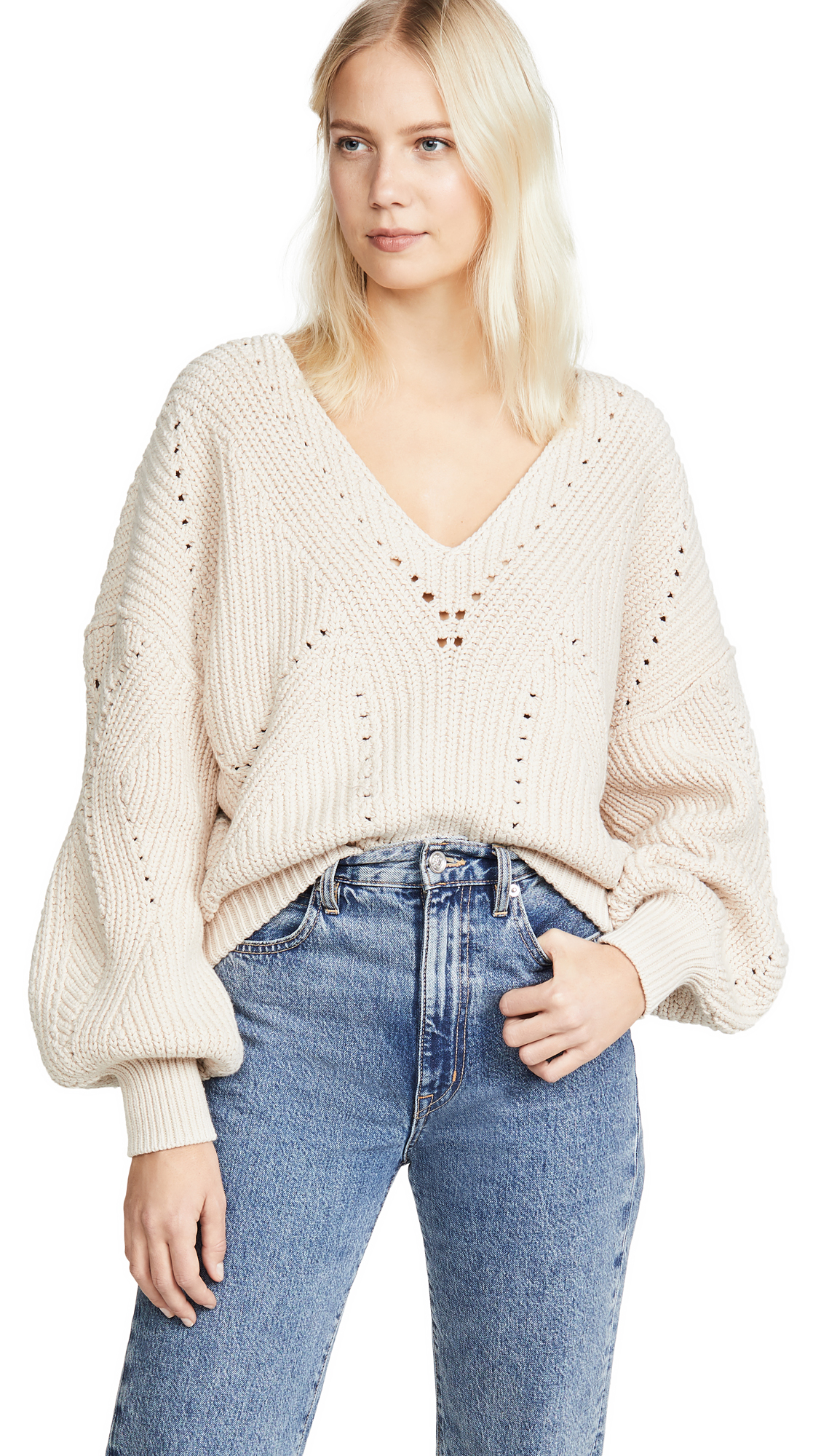 Buy Free People online - photo of Free People All Day Long V Neck Sweater