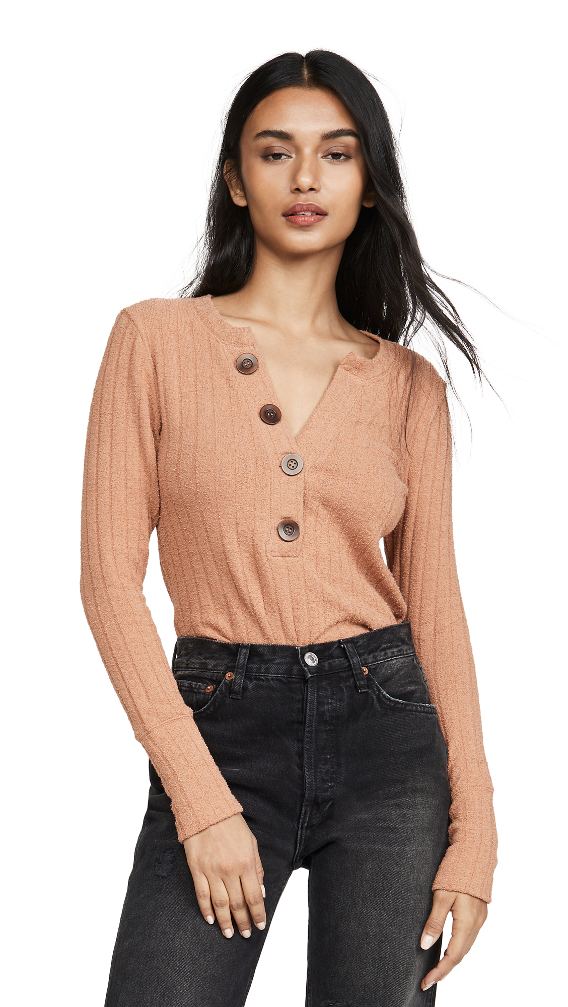 Buy Free People online - photo of Free People Oliver Henley Long Sleeve Tee