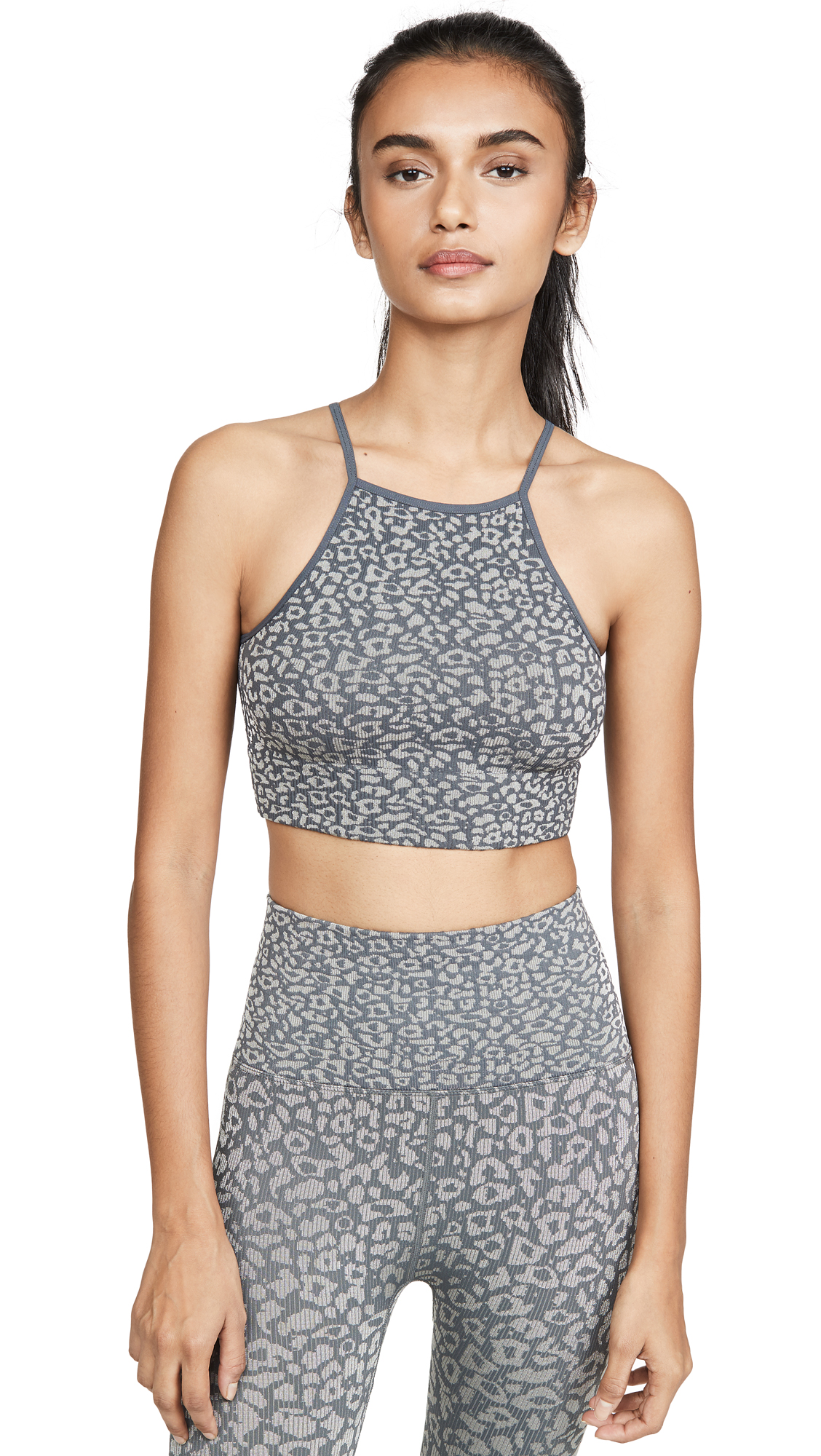 Buy Free People online - photo of Free People FP Movement High Neck Leopard Bra