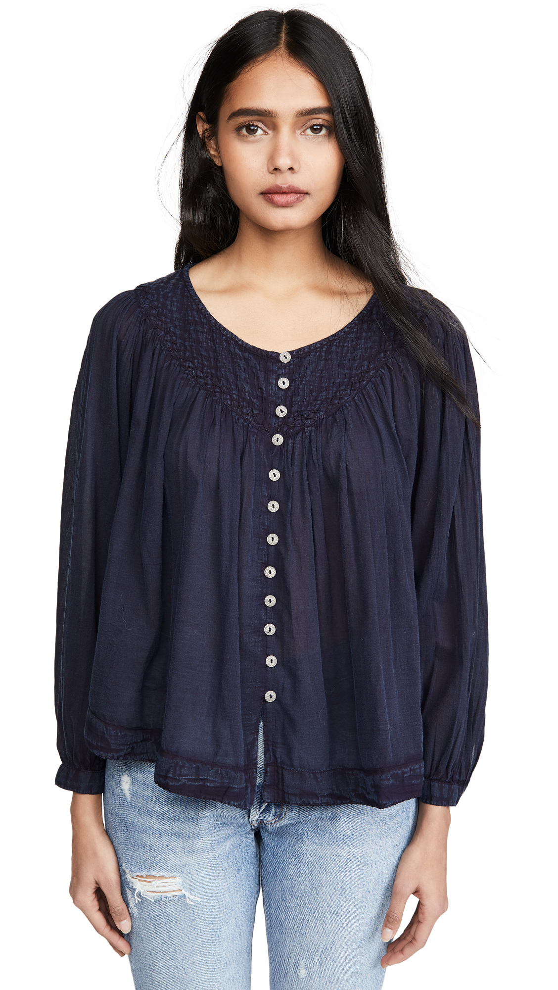 Buy Free People online - photo of Free People Cool Meadow Button Down