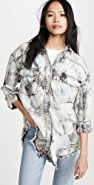Free People Washed Black Lovestruck Shirt