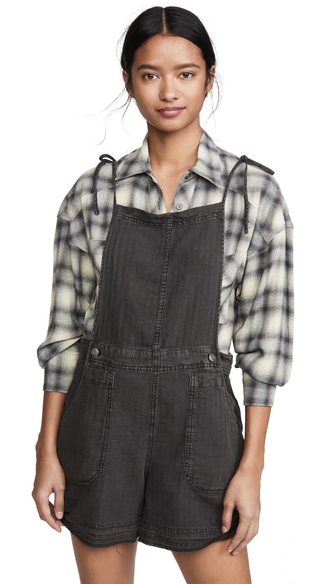 Buy Free People online - photo of Free People Natural Sights Linen Overalls