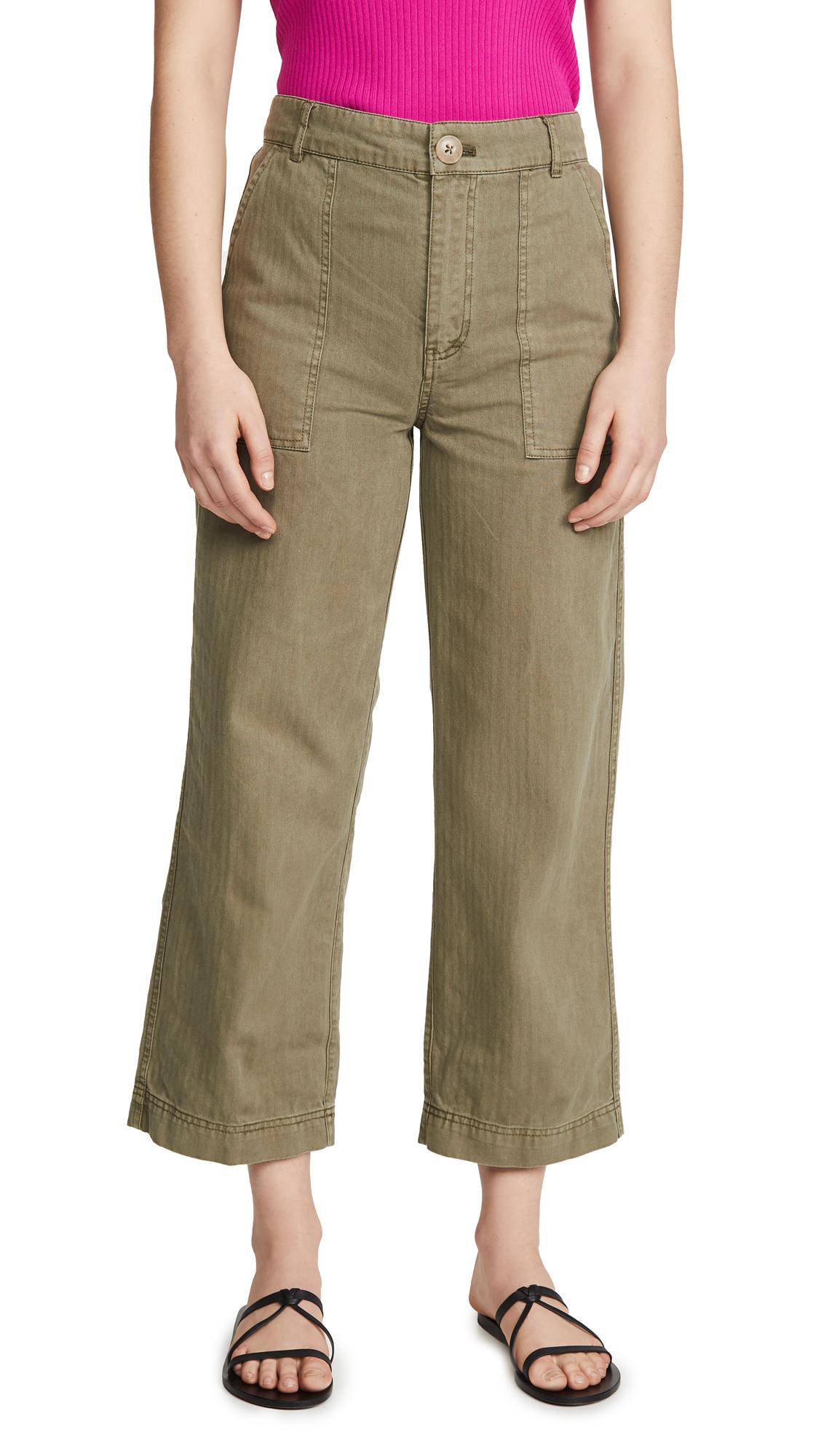 Buy Free People online - photo of Free People Sunday Skies Straight Leg Trousers