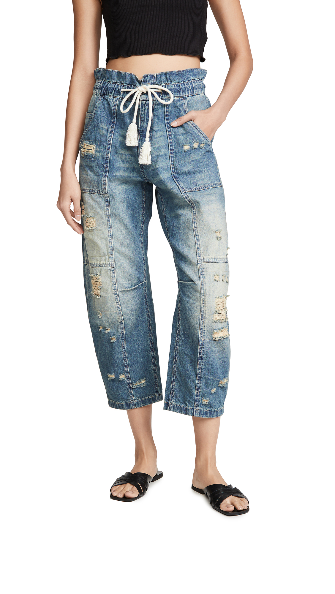 Buy Free People online - photo of Free People In My Time Denim Cargo Jeans