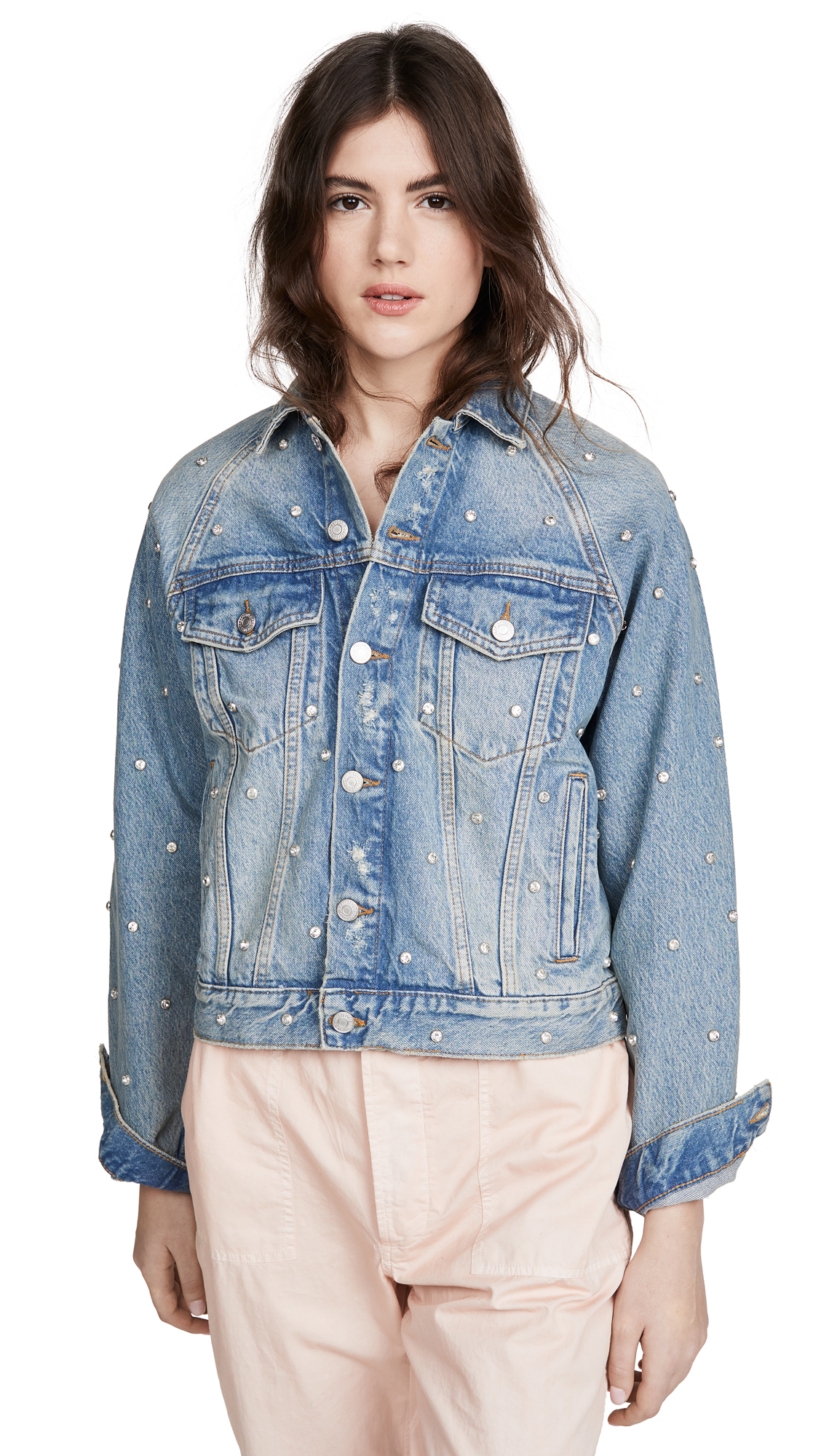 Buy Free People Night After Night Denim Jacket online beautiful Free People Clothing, Jackets