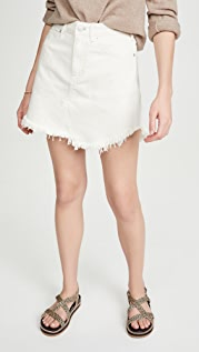 Free People Bailey Denim Miniskirt