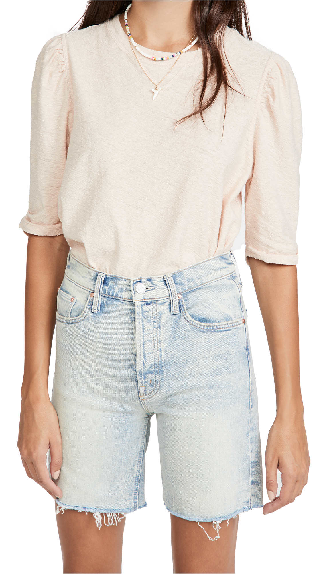 Free People Cottons JUST A PUFF TOP