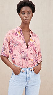 Free People Share Good Vibes Button Down