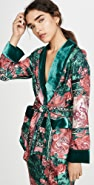 F.R.S For Restless Sleepers Short Robe With Velvet Trim